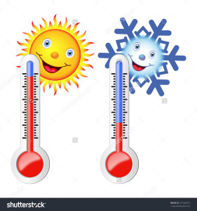 stock-vector-two-thermometers-sun-snowflake-symbols-of-hot-and-cold-weather-217563412